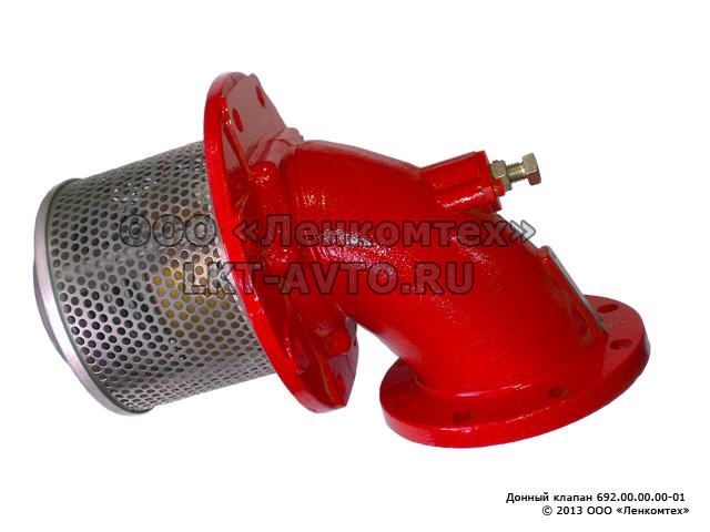Клапан донный на бензовоз ø100 пневматическое включение/пневматическое включение с ручным дублированием