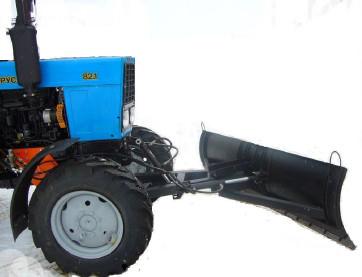 Отвал коммунальный снегоуборочный  МТЗ – 1221 Поворот вручную
