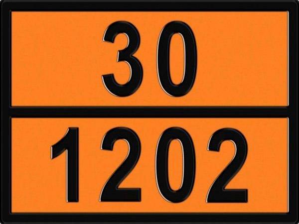 Табличка опасного груза информационная на металле 30х69